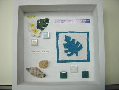 Box frame Hawaiian Quilt
